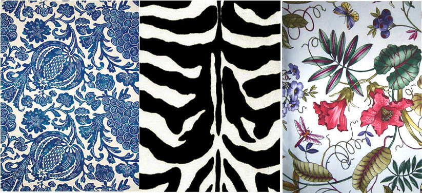 zebra floral outdoor fabric