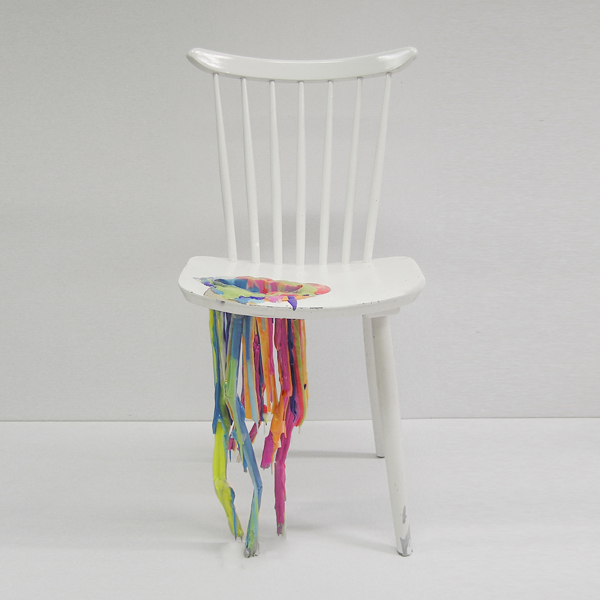 bleeding painted chair adelle